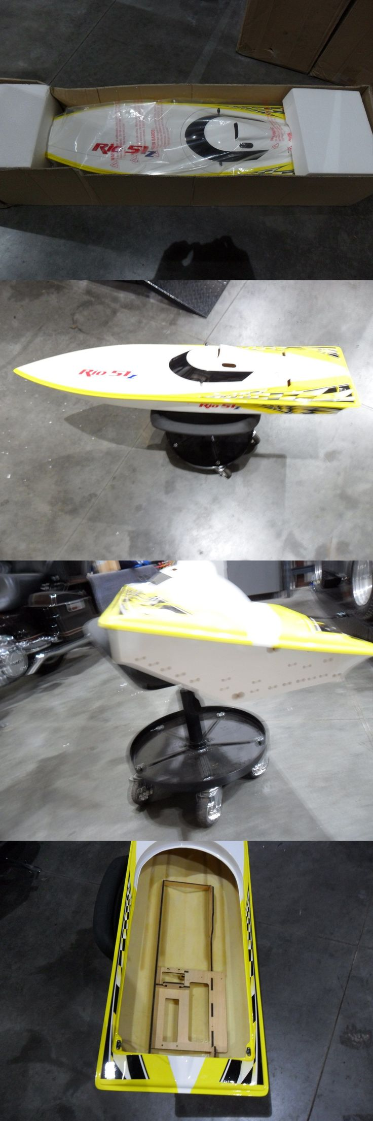 Boats and Watercraft 87480: New Aquacraft Rc Rio 51Z Boat Gas Hull Gas Brushless Conversion Leopard Zenoah -> BUY IT NOW ONLY: $250 on eBay!