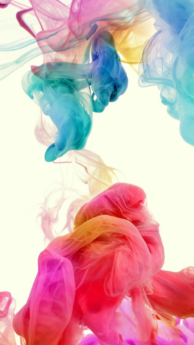 Abstract Colorful Ink #iPhone #5s #Wallpaper