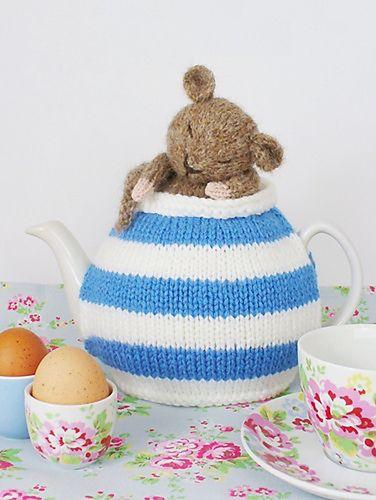 Adorable tea pot cozy.