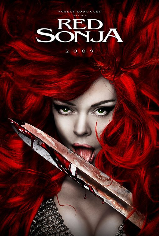Red Sonja movie poster.Red Sonja movie poster....the movie that wasn't to be