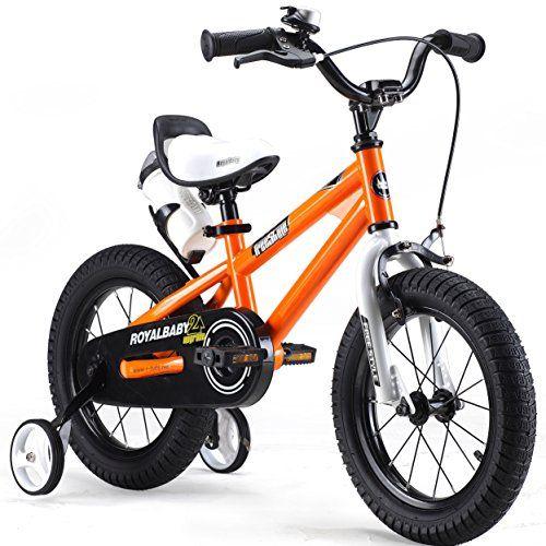 RoyalBaby Kids Freestyle Bike  14 inch BMX for Boys and Girls, Orange