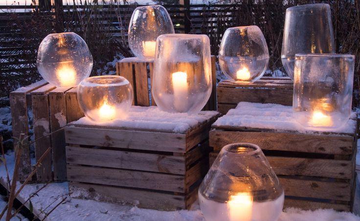 Ballongislykter – lag krystallboller av is!