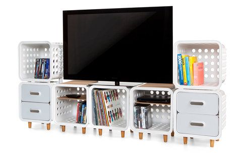 Quirky storage system - would be good for a kid's room, too