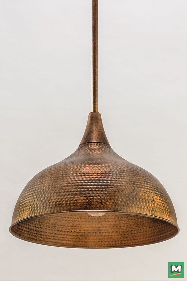 Patriot lighting diego pendant light with hammered copper finish and metal shade