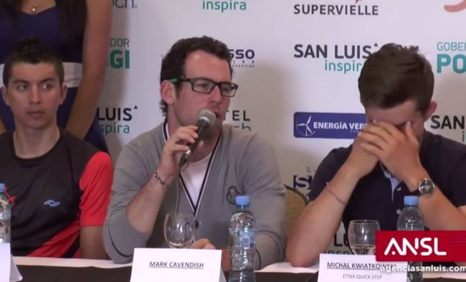 """Mark Cavendish Shoots Down Journalist By Asking If Anyone Is """"F**king His Wife""""!"""
