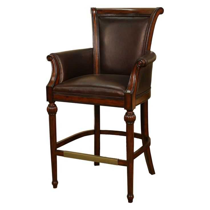 AHB Federico Bar Stool The Federico Bar Stool offers a distinctively traditional design that showcases an upscale fort for any bar