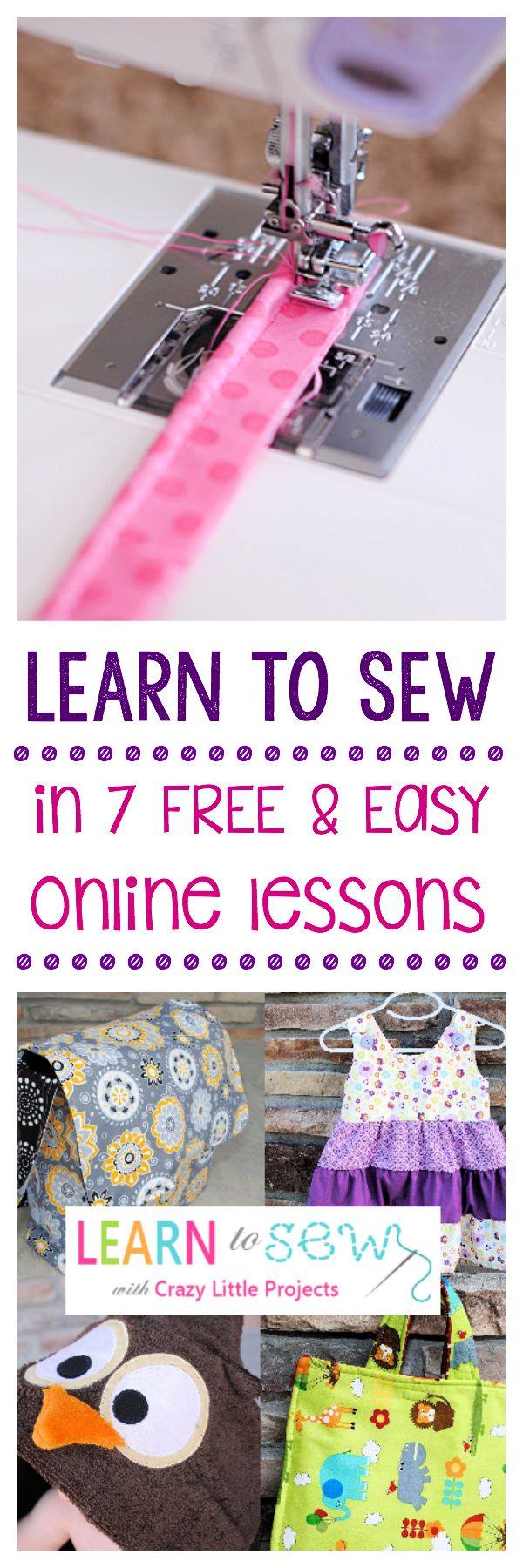 Learn to Sew with these easy, free online lessons! #sew