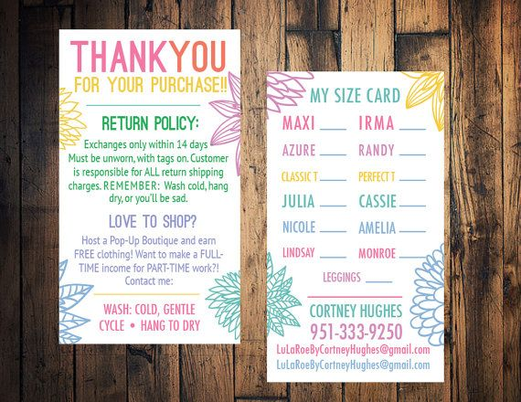 Best 25 lularoe business cards ideas on pinterest lularoe lularoe business card lularoe size card lularoe by thewrightinvite reheart Choice Image