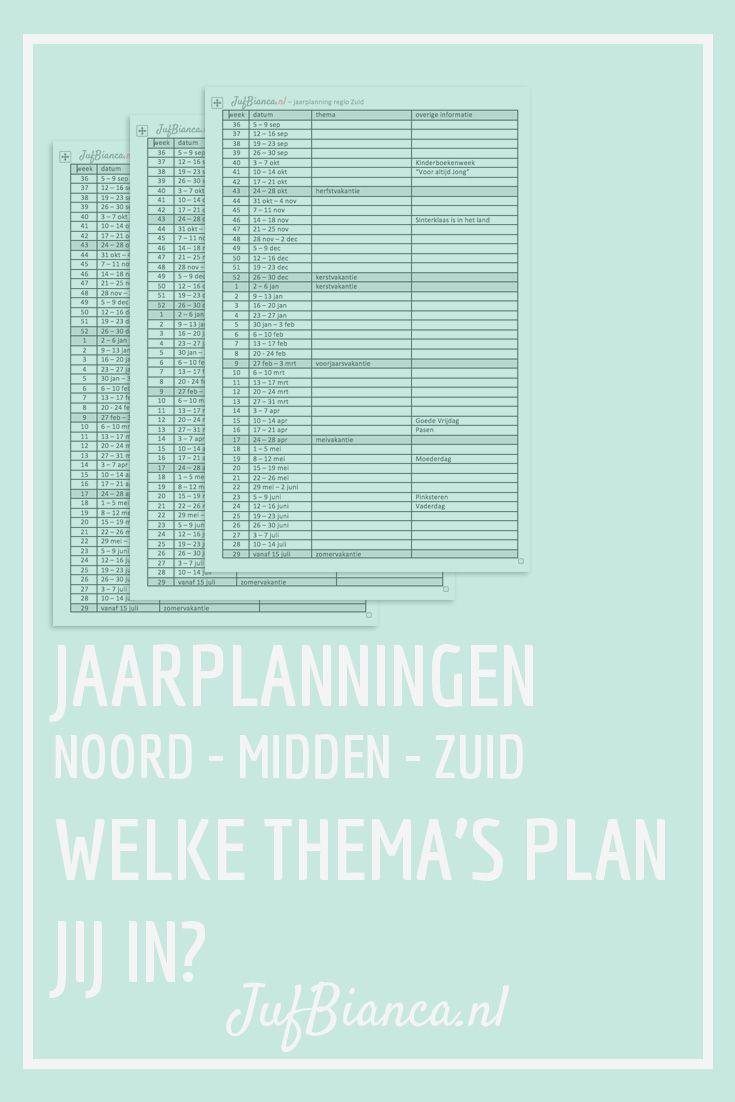 Jaarplanning | JufBianca