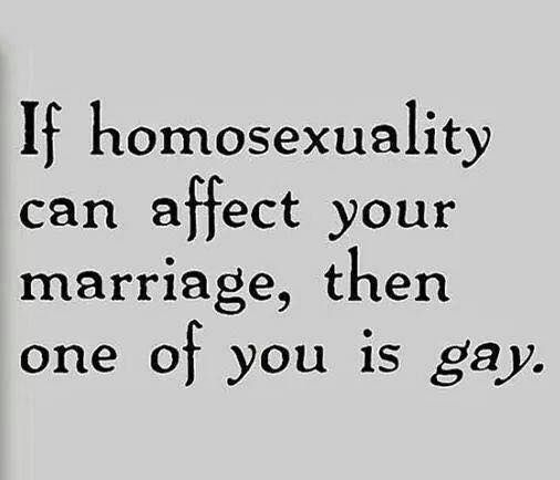 Huh! That's the same thing I tell people who are so worried about gays being allowed to marry. How will it affect YOUR life?! Oh, it won't!!!