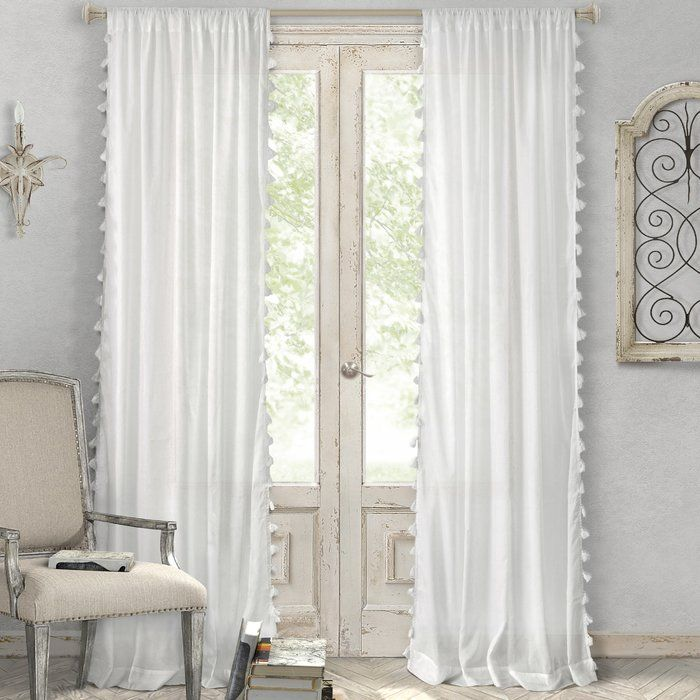 Charlayne Solid Sheer Rod Pocket Single Curtain Panel Panel Curtains Curtains Drapes Curtains