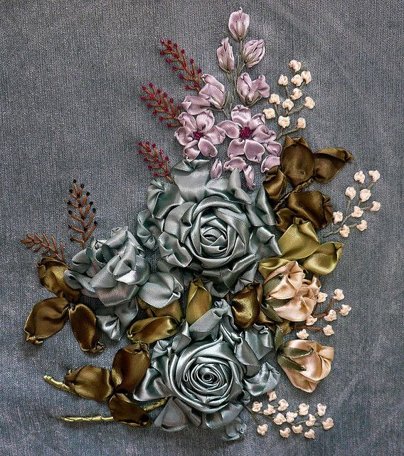 silk ribbon embroidery embellishment