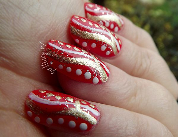 Tutorial Nail Art Holiday's Dots&Stripes Nail Art - Tentazione Unghie