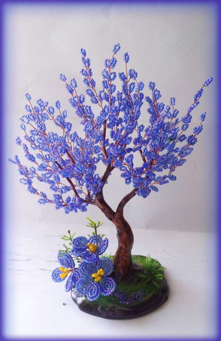 Поделки из бисера и проволоки деревья и цветы, доставка