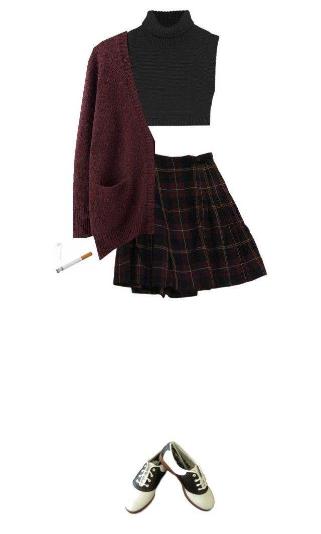 """""""Audrey Horne"""" by kickthehayley ❤ liked on Polyvore featuring Victoria Beckham and Acne Studios"""