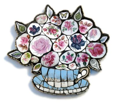 Anna Tilson: pretty mosaics from broken china — UPPERCASE