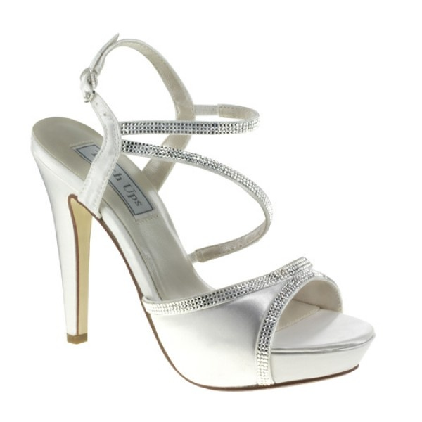 Allie 421 by Touch Ups for Benjamin Walk Corp White Platform Wedding or  Occasion Shoes - SALE