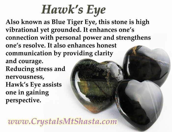Crystal of the Day - Hawk's Eye! A blue or grey Tiger's Eye, it's great for perspective and clear communication.  http://www.crystalsmtshasta.com/blog/crystal-of-the-day-hawks-eye/