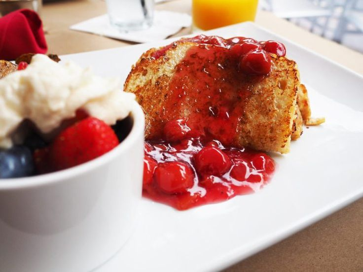 The freshest breakfast: cherries jubilee at Reflect Bistro. Photo by John Kalmar