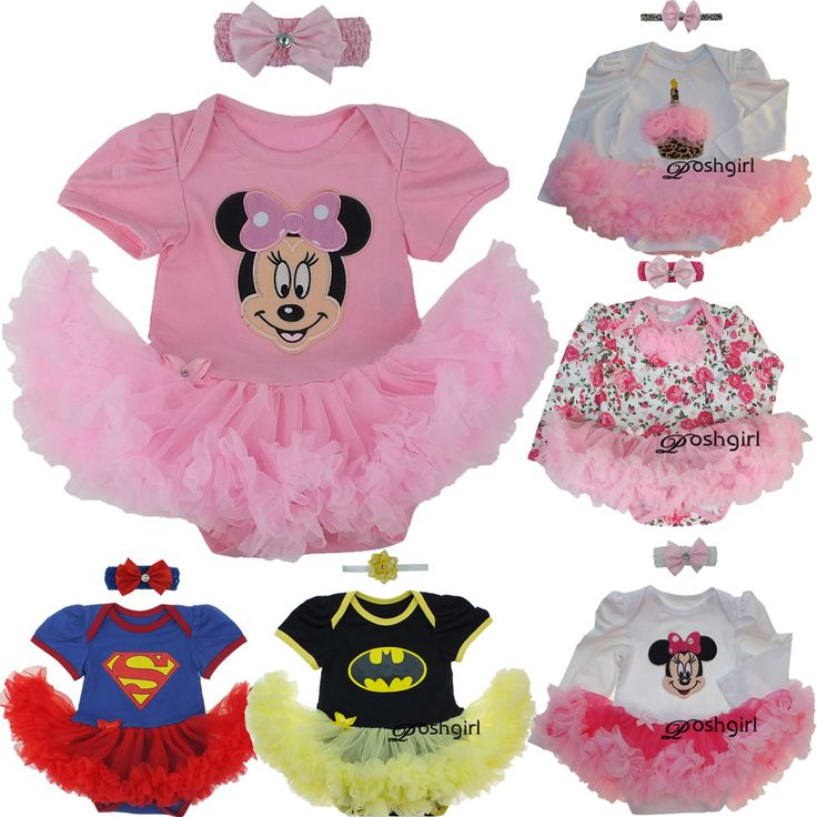 New Baby Girl Clothing Sets Infant Christmas Gifts Lace Tutu Romper Dress Jumpersuit+Headband 2pcs Bebe First Birthday Costumes