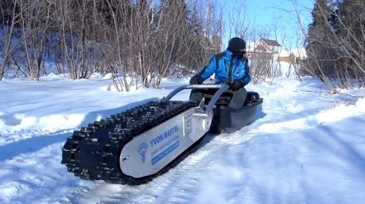 The MTT-136 (short for 'My Track Technology' and the 136 inch snowmobile tread) is capable...