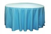 "Polyester 120"" Round Tablecloth - Aqua"