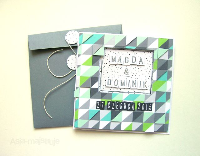 Wedding card | best wishes for newlyweds | triangles
