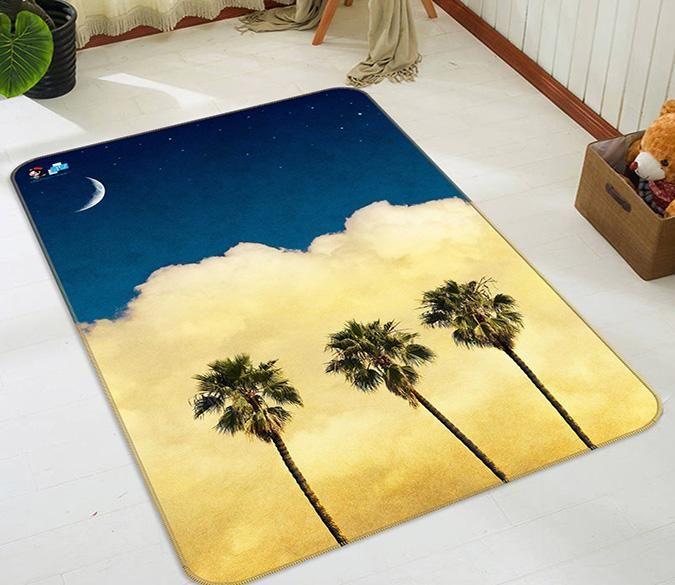 3d Stars Sky Clouds Trees 157 Non Slip Rug Mat Carpet Rugs