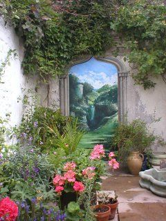 Don't have a great view to borrow? Make one. This by artist Jonathan Pritchard, in the UK. painted mural