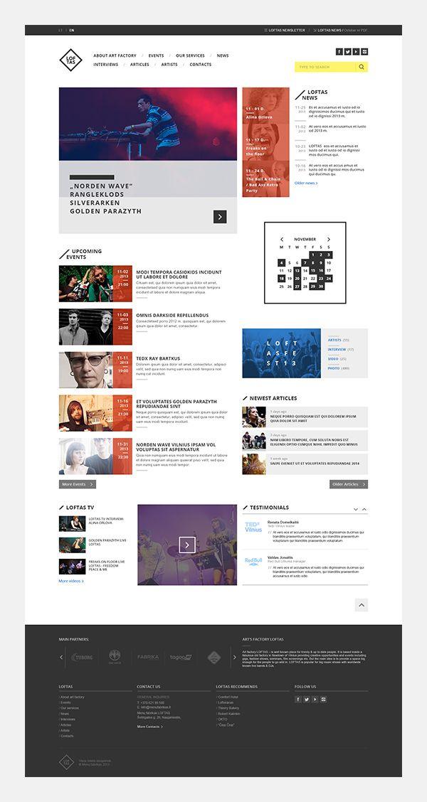 Art Factory Loftas Redesign Concept            < repinned by kalypso - web & mobile design | Take a look at http://kalypso.es/ >