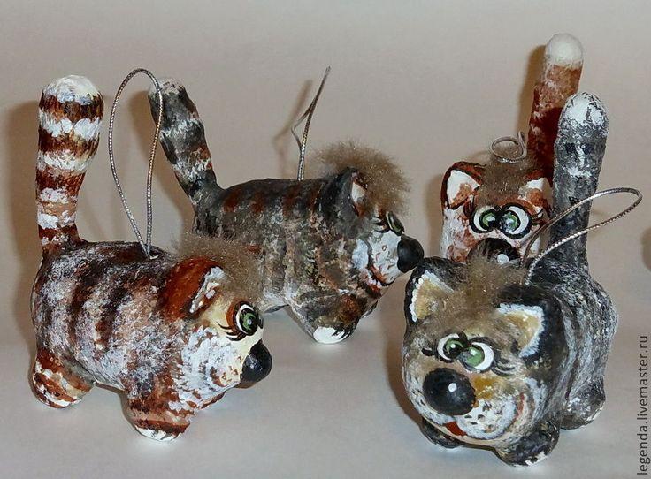 Купить Котофей - коты, коты и кошки, коты ручной работы, котики, елочные игрушки