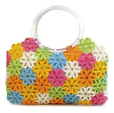 Bolsas tejidas a crochet : cositasconmesh