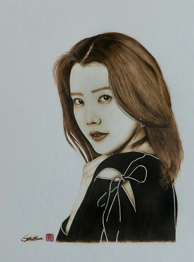 Chae Jung An - Pyrography on paper