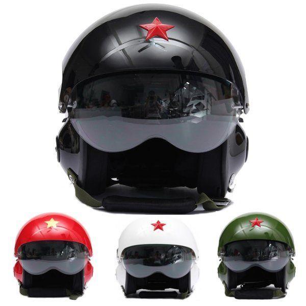 Motorrad Roller Helm Air Force Jet Pilot Flight Doppelscheibe Größe L – Moto ….   – Motorcycle