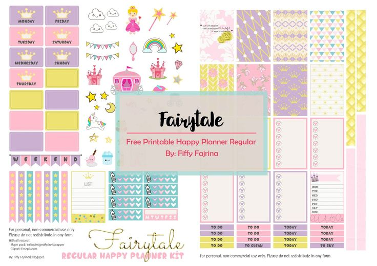 Hey planner girls,     Today, I decided to share two free printable kits fro MAMBI Regular/Classic. I've got Fairytale Kit Theme and Rose Qu...
