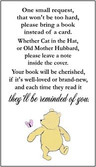 Winnie The Pooh Baby Shower Book Request Cards