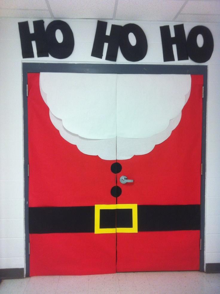 Loving Santa on my classroom doors this Christmas!! :)