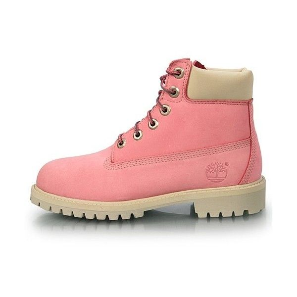 timberland pink hiking boots for women   Timberland 6 GS Big Kids Size... ❤ liked on Polyvore featuring shoes