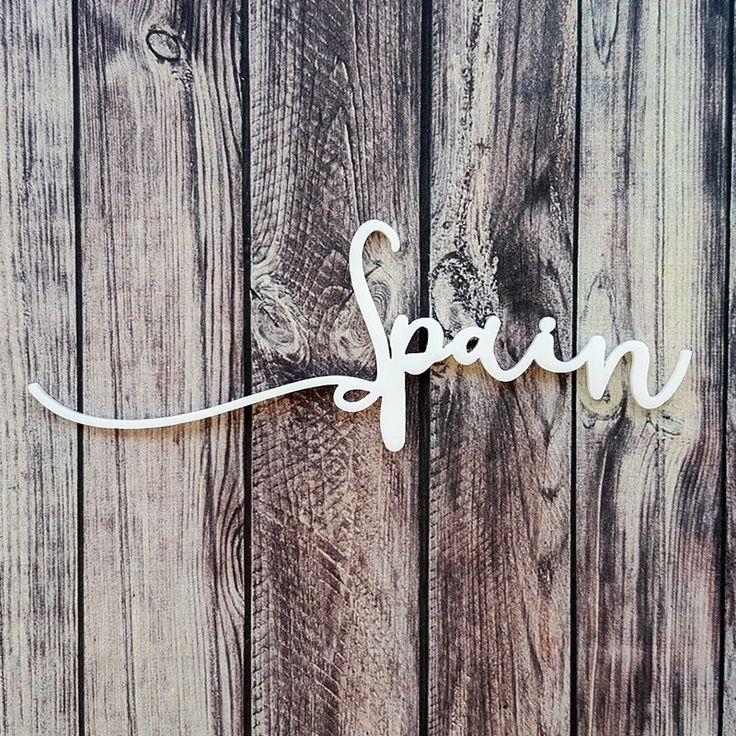 NőiCsizma | Spain- akril címfelirat
