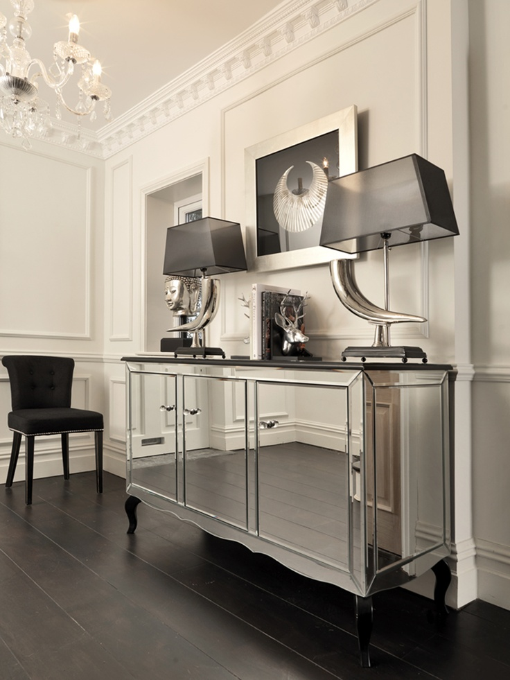 This Exquisite Mirrored Sideboard Will Add A Touch Of Contemporary Elegance And Refinement To Your Home