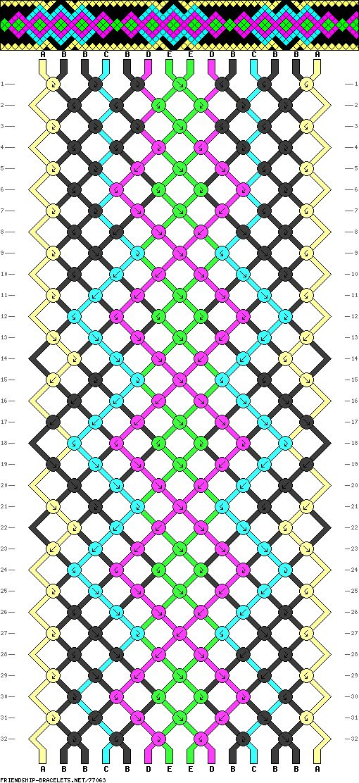 14 strings, 32 rows, 5 colors