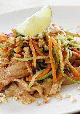 Asian Peanut Noodles with Chicken, Lightened Up is delicious, made with stir fried chicken strips, rice noodles, scallions, carrots, broccoli slaw, bean sprouts in a spicy peanut sauce. A winning combination of spicy, crunchy, sweet and salty will tantalize your taste buds.