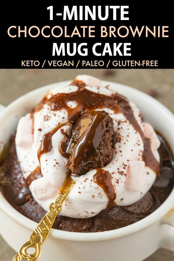 This Keto Chocolate Brownie Mug Cake is the BEST vegan and keto … …