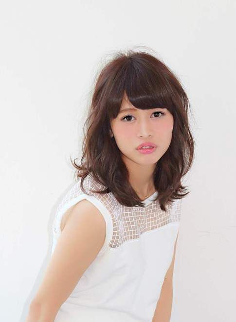 小顔効果◎大人かわいいふわミディアム♡ たまご型顔さん向きヘア♪