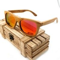 Wish | Bobobird S0192 Polarized Brwon Lenses Bamboo Wood Handmade Mens Brand Designer Sunglasses gafas de sol steampunk Cool in Box