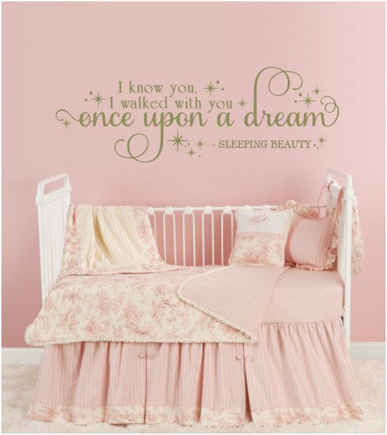 I know you, I walked with you Once Upon A Dream - Sleeping Beauty - Wall Decal