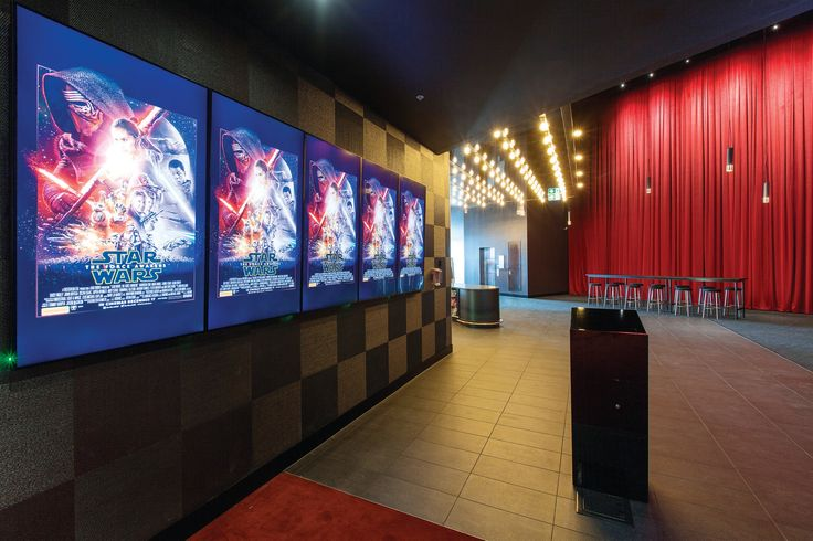 Reading Cinema, located in the Brickworks complex New Lynn. Ticket podium and Ticket counter end.