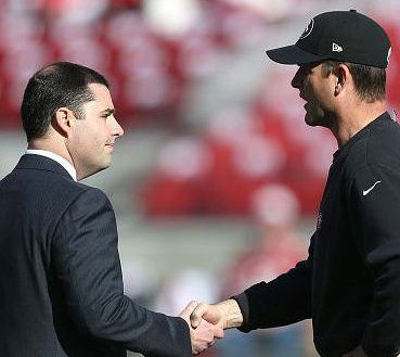 Jed York says he'd like to have dinner with JimHarbaugh