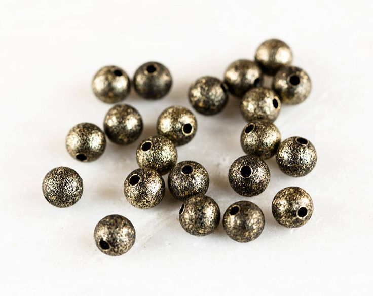 2479_Bronze round beads 6 mm, Antique bronze beads, Copper beads, Jewelry spacers, Metal beads, Bronze bead spacers, Spacer beads_50 pcs. by PurrrMurrr on Etsy