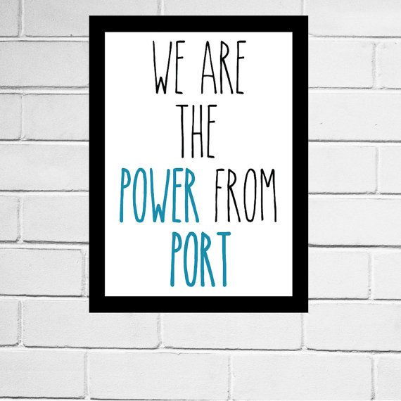 Port Adelaide FC - Port Power - AFL football club song print - Digital Download - All AFL clubs available
